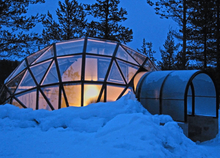 Igloo made of glass