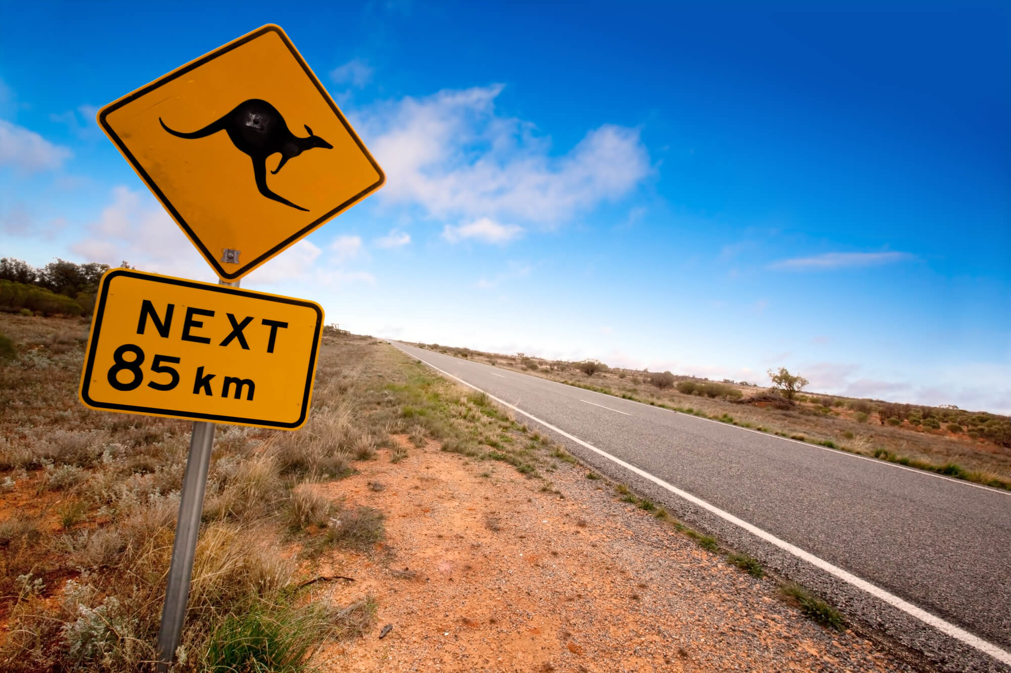 Kangaroo Australia outback sign