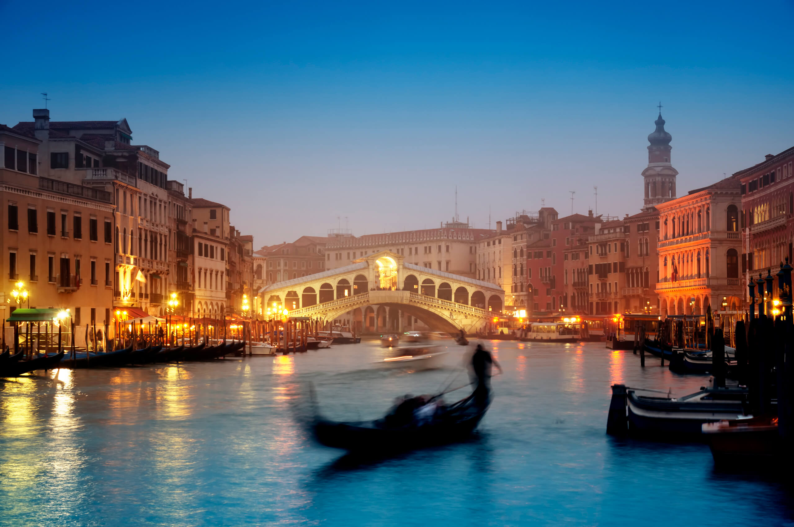 river and bridge in Venice