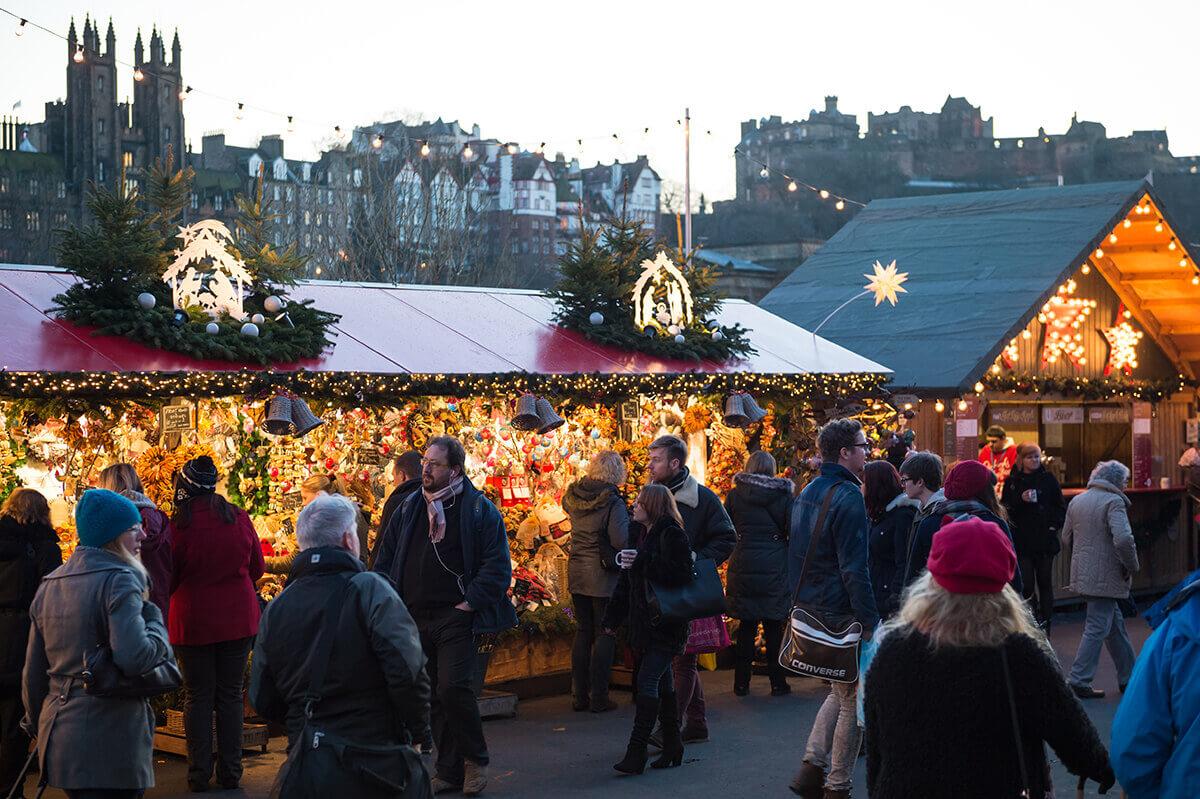 Edinburgh Christmas market stall